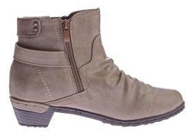 Damen Stiefeletten Kunst Leder leicht gefüttert Boots Knöchel Schuhe Trichter Absatz Gr. 36 - 42 – Bild 4