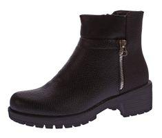 Damen Stiefeletten Knöchel Schuhe Block Absatz Kunst Leder Boots Tiermuster Prägung Gr. 36 - 41 – Bild 2