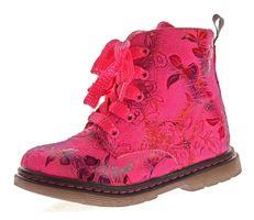 Kinder Boots leicht gefüttert Mädchen Knöchel Schuhe Stiefel Blumen Muster Reißverschluss Gr. 20-31 – Bild 2