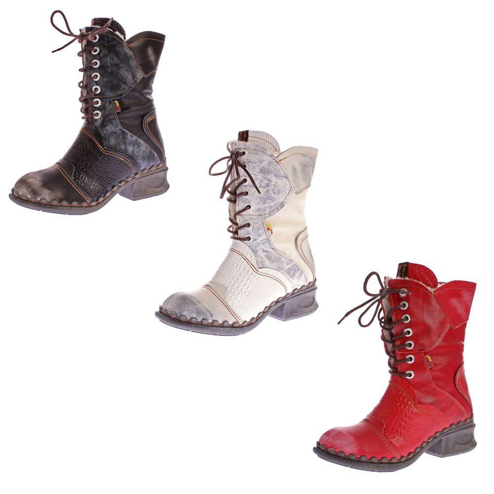 e9de9e461207b8 TMA Damen Winter Stiefel echt Leder Schuhe gefüttert Boots TMA 5766 Gr. 36  - 42