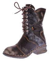 TMA Damen Winter Stiefel echt Leder Schuhe gefüttert Comfort Boots TMA 5766 Stiefeletten Gr. 36 - 42 – Bild 2