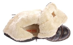 TMA Damen Winter Stiefel echt Leder Schuhe gefüttert Comfort Boots TMA 5199 Animal Print Gr. 36-42 – Bild 8