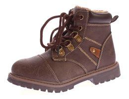 Kinder Winter Knöchel Schuhe Jungen Mädchen Kunst Leder Schuhe warm gefüttert Outdoor Boots 30 - 36 – Bild 3