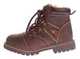 Kinder Winter Knöchel Schuhe Jungen Mädchen Kunst Leder Schuhe warm gefüttert Outdoor Boots 30 - 36 – Bild 9