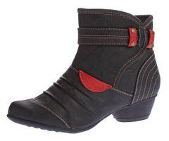 Damen Stiefeletten Kunst Leder Boots Knöchel Schuhe Kaltfutter Trichter Absatz Ziernähte Gr. 36 - 41 – Bild 1