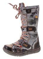 Damen Leder Winter Comfort Stiefel Reptil Print gefüttert echt Leder Schuhe TMA 7086   – Bild 2
