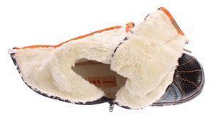 Damen Leder Winter Comfort Stiefel Reptil Print gefüttert echt Leder Schuhe TMA 7086   – Bild 6