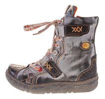 Damen Leder Winter Comfort Stiefeletten Reptil Print gefüttert echt Leder Schuhe TMA 7087   – Bild 3