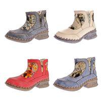 TMA Damen Winter Stiefeletten gefüttert Comfort Boots echt Leder Schuhe TMA 5388 Stiefel Gr. 36 - 42 – Bild 1