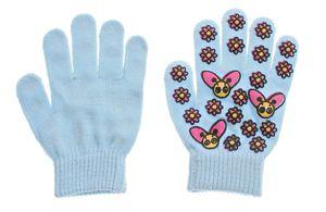 Kinder Handschuhe Blumen Motiv Fünf Finger Handschuhe Mädchen Herbst Winter Gr. 5,5 (M) – Bild 4