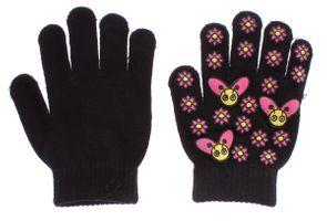 Kinder Handschuhe Blumen Motiv Fünf Finger Handschuhe Mädchen Herbst Winter Gr. 5,5 (M) – Bild 2