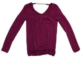 Damen Langarm Shirt Longsleeve Pullover Strass Kette Made in Italy Gr. S - M – Bild 3