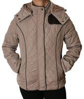 Damen Winter Jacke warm gefüttert Steppjacke Kapuze Taschen Steppmuster Reißverschluss Gr. S - XXL – Bild 3