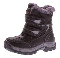Kinder Winter Stiefel warm gefüttert Jungen Outdoor Boots Schuhe Reißverschluss Klett Gr. 25 - 30 – Bild 2