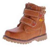 Kinder Winter Knöchel Schuhe gefüttert Jungen Mädchen Boots Kunst Leder Stiefel Klett Gr. 26 - 37 – Bild 3