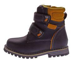 Kinder Winter Knöchel Schuhe gefüttert Jungen Mädchen Boots Kunst Leder Stiefel Klett Gr. 26 - 37 – Bild 14
