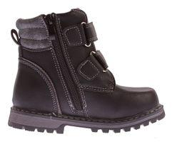 Kinder Winter Knöchel Schuhe gefüttert Jungen Mädchen Boots Kunst Leder Stiefel Klett Gr. 26 - 37 – Bild 6