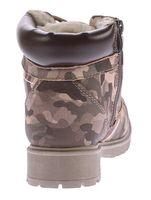 Damen Stiefeletten Knöchel Schuhe warm gefüttert Block Absatz Boots Camouflage Gr. 36-41 – Bild 5
