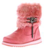Kinder Winter Stiefel Mädchen Polar Schnee Schuhe Outdoor Boots Kunst Pelz Reißverschluss Gr. 31-36 – Bild 4