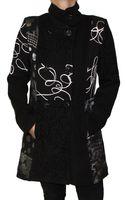Damen Herbst Winter Mantel Wolle Jacke Knopfleiste Muster variieren Made in Italy Gr. S - 6XL – Bild 2