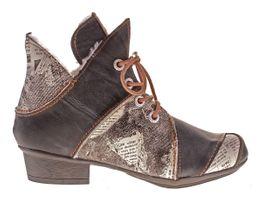 TMA Damen Winter Stiefeletten echt Leder Boots gefüttert Schuhe TMA 8818F Knöchelschuhe Gr. 36 - 42 – Bild 3