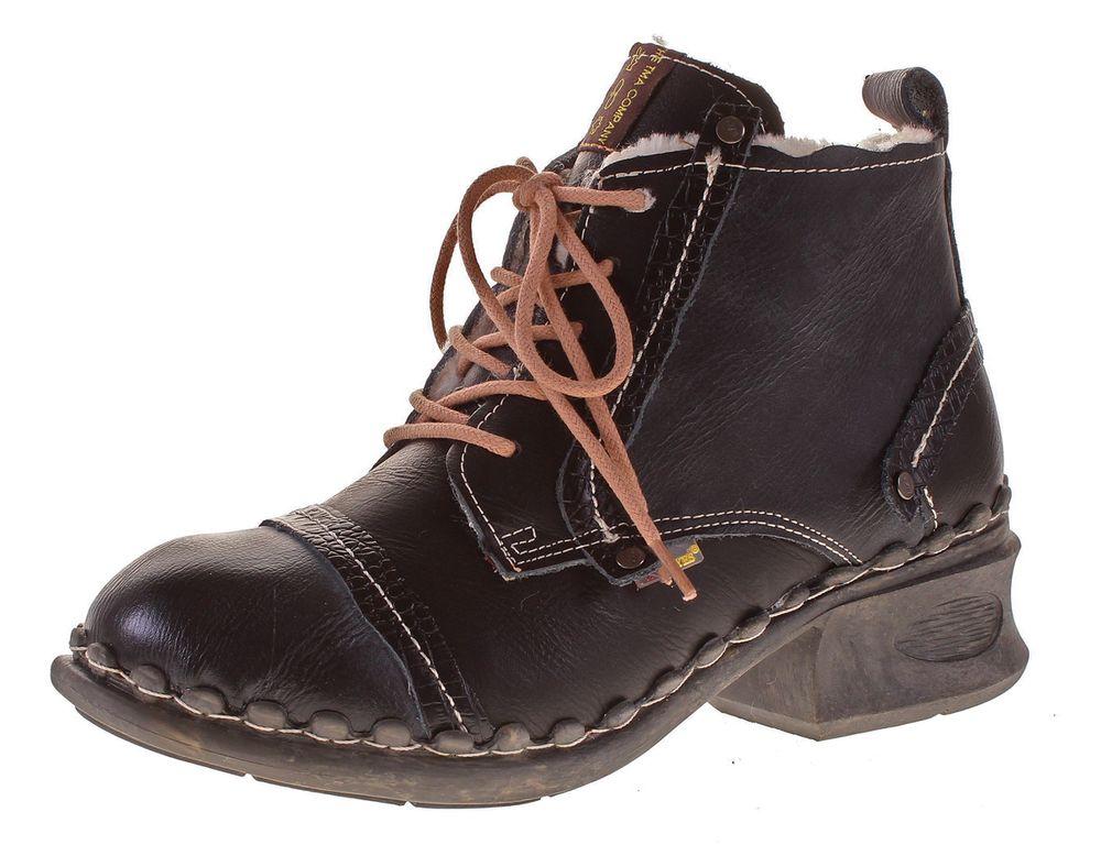 tma damen winter boots echt leder stiefeletten gef ttert schuhe tma 5355f kn chelschuhe gr 36. Black Bedroom Furniture Sets. Home Design Ideas