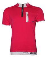 Herren Poloshirt David & Gerenzo T-Shirt Slim Fit Stretch Oberteil Figurbetont Aufdruck Kurzarm Gr. M-XL – Bild 3