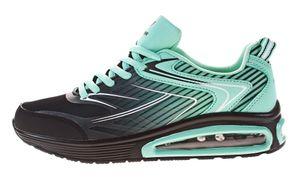 Damen Sneakers Farbverlauf Sport Schuh bunt Halbschuhe Schnürer Turnschuhe Freizeit Gr. 36 - 41 – Bild 6