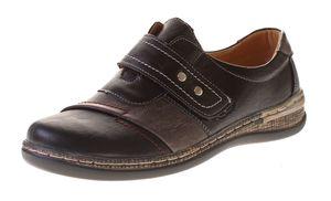 Damen Halb Schuhe Slipper Sport Freizeit Schuhe Sneakers Klettverschluss Leder Innensohle Gr. 36-41 – Bild 1
