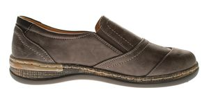 Damen Halb Schuhe Slipper Leder Innensohle Gummizug Sport Freizeit Schuhe Sneakers Gr. 36-41 – Bild 4