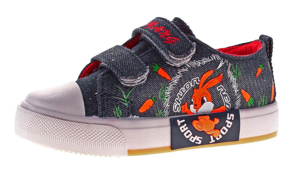 elegantes Aussehen bestbewertet der Verkauf von Schuhen Kinder Leinen Schuhe Halbschuhe Klett Kita Stoff Jungen Mädchen Hausschuhe  Jeans Optik Gr. 25 - 30
