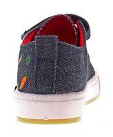 Kinder Leinen Schuhe Halbschuhe Klett Kita Stoff Jungen Mädchen Hausschuhe Jeans Optik Gr. 25 - 30 – Bild 17