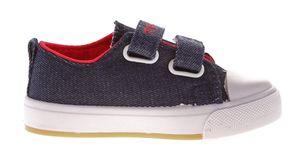 Kinder Leinen Schuhe Jeans Optik Hausschuhe Kita Klett Mädchen Jungen Halbschuhe Stoff 22-26 – Bild 15
