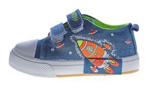 Kinder Leinen Schuhe Jeans Optik Hausschuhe Kita Klett Mädchen Jungen Halbschuhe Stoff 22-26 – Bild 10