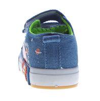 Kinder Leinen Schuhe Jeans Optik Hausschuhe Kita Klett Mädchen Jungen Halbschuhe Stoff 22-26 – Bild 12