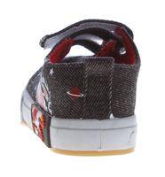 Kinder Leinen Schuhe Jeans Optik Hausschuhe Kita Klett Mädchen Jungen Halbschuhe Stoff 22-26 – Bild 7