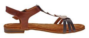 Damen Sandalen Sun & Shadow flach Schuhe Fessel Riemchen Sandaletten Applikation Gr. 38-43 – Bild 4