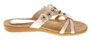 Damen Pantoletten flach Riemen Schuhe flexibel Ziersteine Blumen Latschen Sandaletten Gr. 37 - 42 – Bild 7