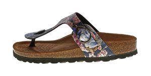 Damen Zehentrenner Natural Power Bio Pantoletten Leder-Tieffußbett Sandalen Schuhe Latschen 36 - 42 – Bild 20