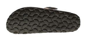 Damen Zehentrenner Natural Power Bio Pantoletten Leder-Tieffußbett Sandalen Schuhe Latschen 36 - 42 – Bild 24