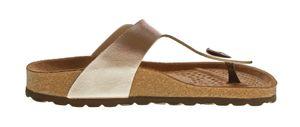 Damen Zehentrenner Natural Power Bio Pantoletten Leder-Tieffußbett Sandalen Schuhe Latschen 36 - 42 – Bild 13