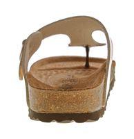 Damen Zehentrenner Natural Power Bio Pantoletten Leder-Tieffußbett Sandalen Schuhe Latschen 36 - 42 – Bild 15