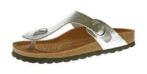 Damen Zehentrenner Natural Power Bio Pantoletten Leder-Tieffußbett Sandalen Schuhe Latschen 36 - 42 – Bild 3