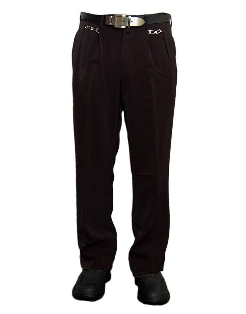 herren bundfaltenhose anzug herrenhose schwarz hose mit stickerei und bundfalte zierketten gr. Black Bedroom Furniture Sets. Home Design Ideas