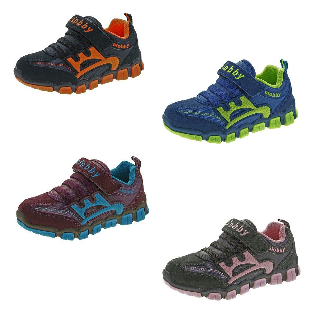 wholesale dealer 5aa06 e5782 Kinder Halb Schuhe Mädchen Jungen Wild Leder bunt Sneaker Klettverschluss  Turnschuhe Gr. 25 - 30