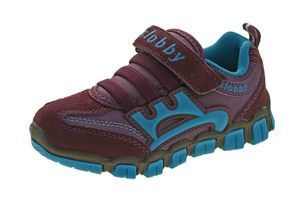 Kinder Halb Schuhe Mädchen Jungen Wild Leder bunt Sneaker Klettverschluss Turnschuhe Gr. 25 - 30 – Bild 5