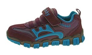 Kinder Halb Schuhe Mädchen Jungen Wild Leder bunt Sneaker Klettverschluss Turnschuhe Gr. 25 - 30 – Bild 21