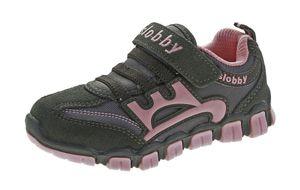Kinder Halb Schuhe Mädchen Jungen Wild Leder bunt Sneaker Klettverschluss Turnschuhe Gr. 25 - 30 – Bild 3