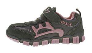 Kinder Halb Schuhe Mädchen Jungen Wild Leder bunt Sneaker Klettverschluss Turnschuhe Gr. 25 - 30 – Bild 11
