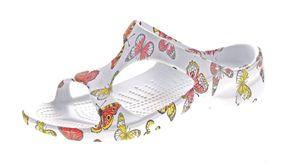 Damen Bade Pantolette Sommer Schuhe EVA-Sohle Freizeit Latschen Bandagen Gr. 37-42 – Bild 3